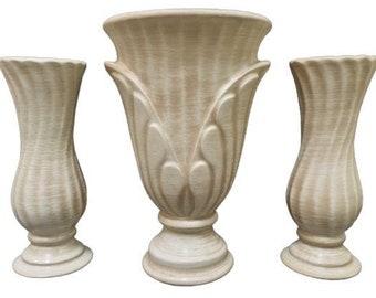 Haeger Pottery 3 Piece Vase Set
