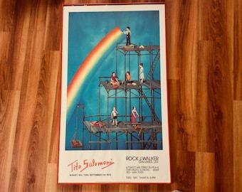Tito Salomoni Building a Rainbow Signed 1979 Exhibition Art Gallery Marque Poster 23x39