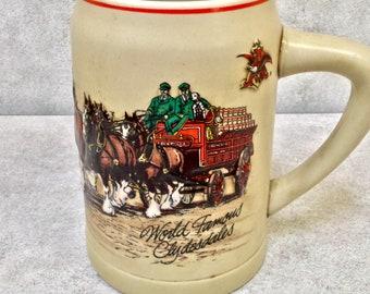 Vintage Budweiser World Famous Clydesdales Beer Mug