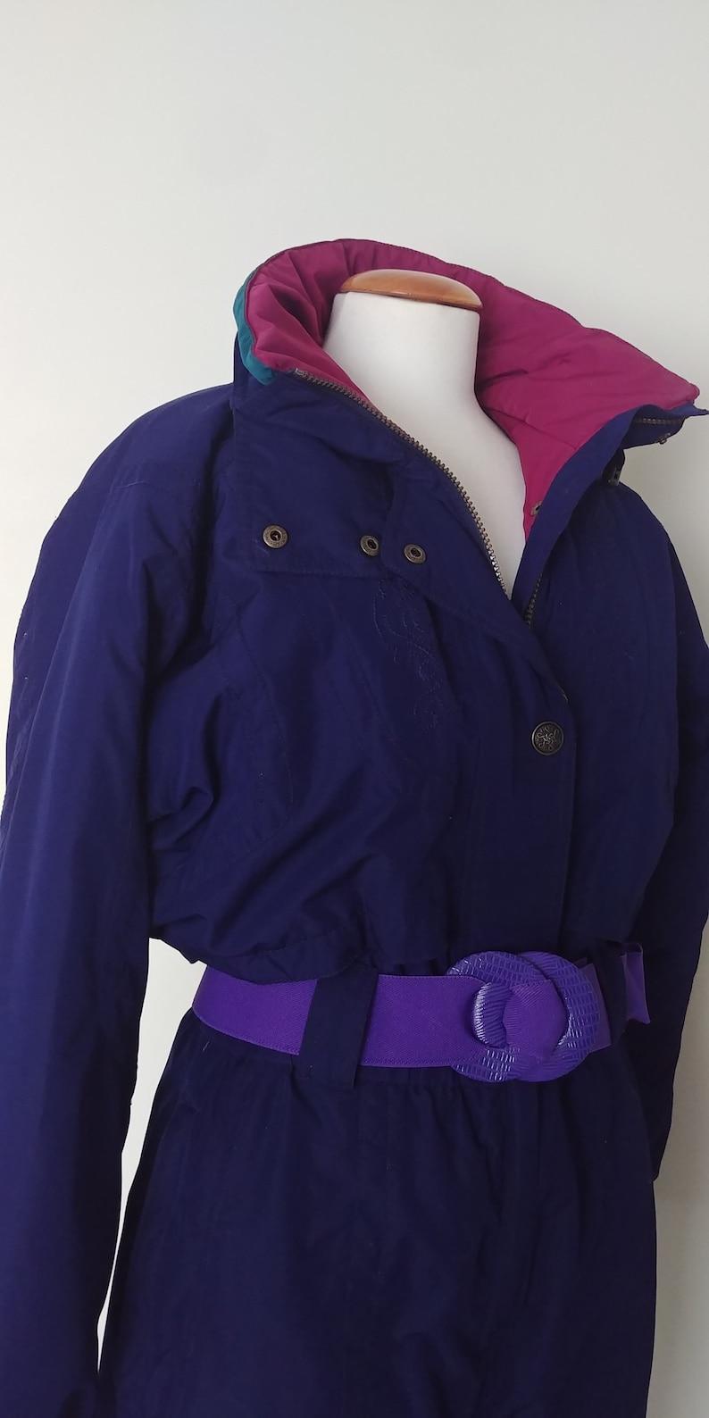 4d2a0cd1b04 Vintage 90s Nordica Ladies One Piece Ski Suit Retro Nineties