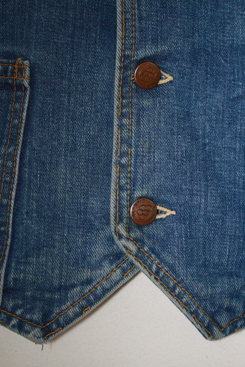 Vintage Olympic Denim Jean Vest,Collectible Olympic Apparel,