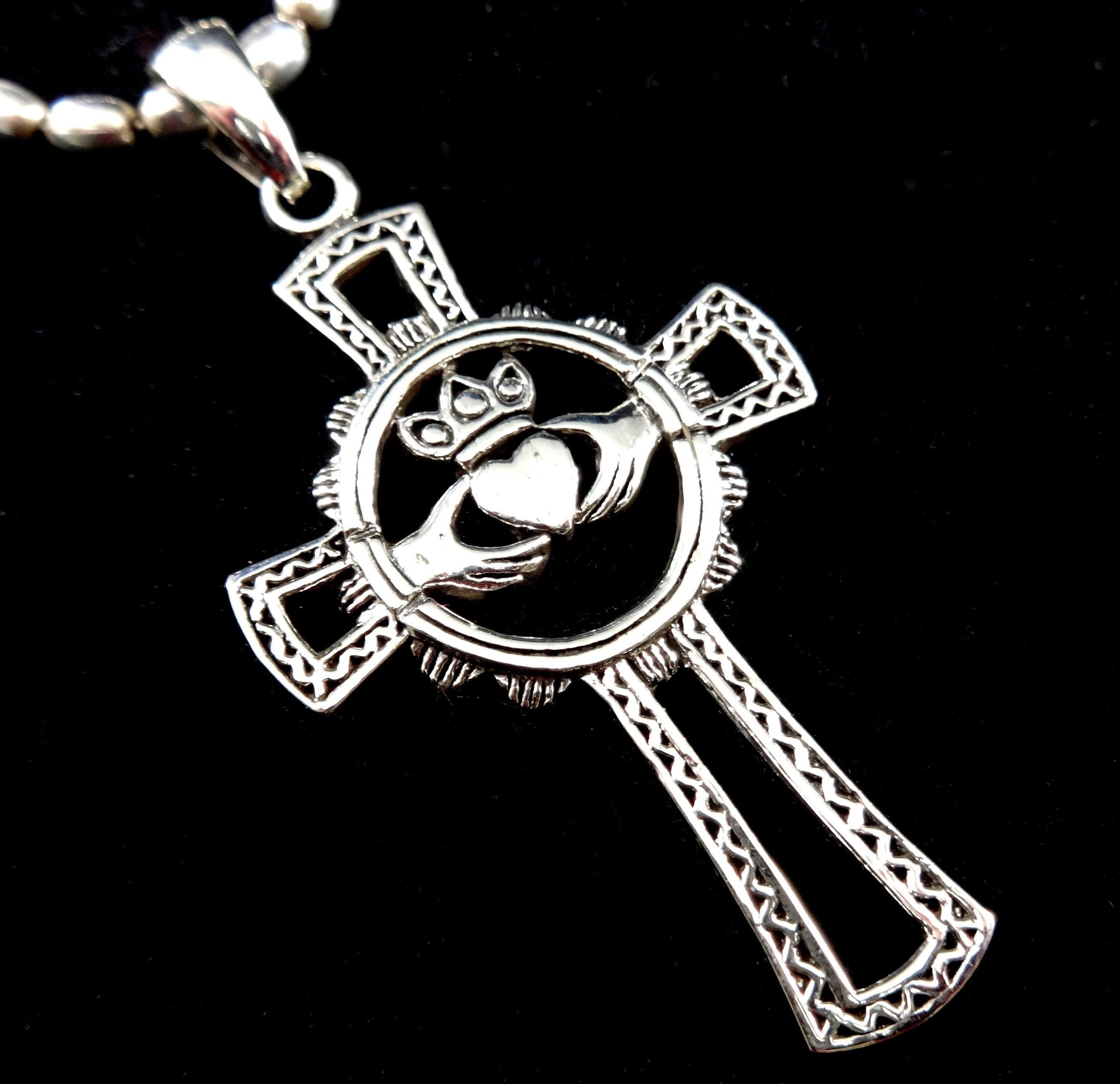 925 Sterling Silver Irish Love Gift Snakes NEW Celtic Knot Snake Pendant