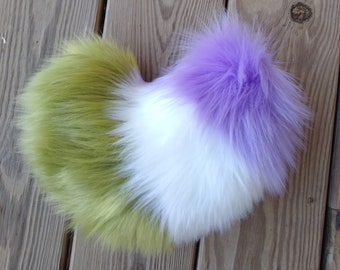 Fluffy Tail Light up Perky Nub Furry Tail Nubby Fursuit Tail Perky Deer Costume