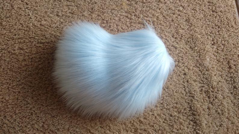 Baby Blue Mini Fursuit Nub Tail