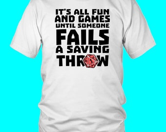 b8e47def Fail Saving Throw DND T-Shirt