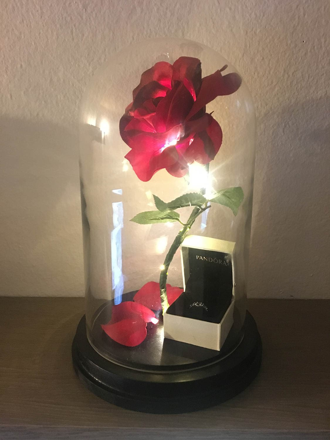 Enchanted rose flower lamp beauty and the beast enchanted etsy zoom izmirmasajfo