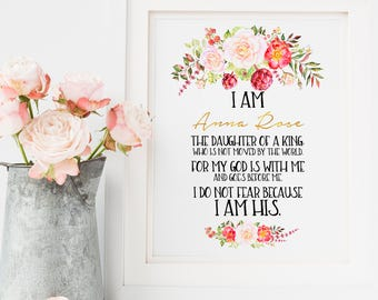 Nursery Wall Art New Baby Gift Baby Dedication Gift First Communion Gift for Girl Confirmation Gift Baby Girl Gift First Communion Wall Art