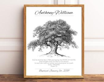 Gift For Godson Boy Baptism Confirmation Print