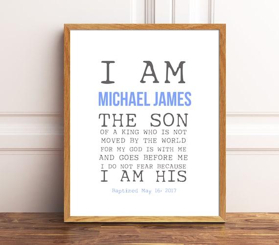 Baby Boy Gift 1st Birthday Bible Verse Prints Baptism