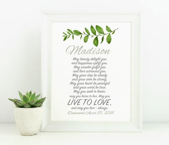 Baptism Print Printable Gift Boy
