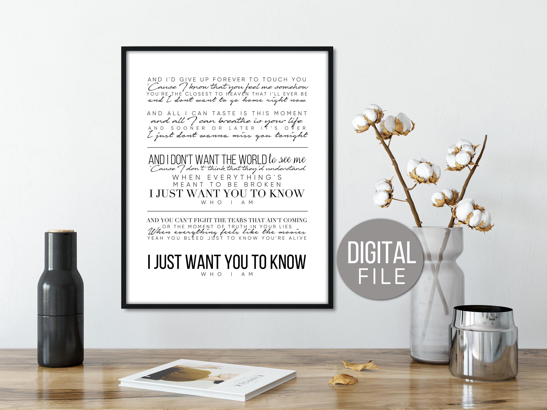Goo Goo Dolls Lyrics Iris Lyrics Gift For Her Song Lyrics Etsy