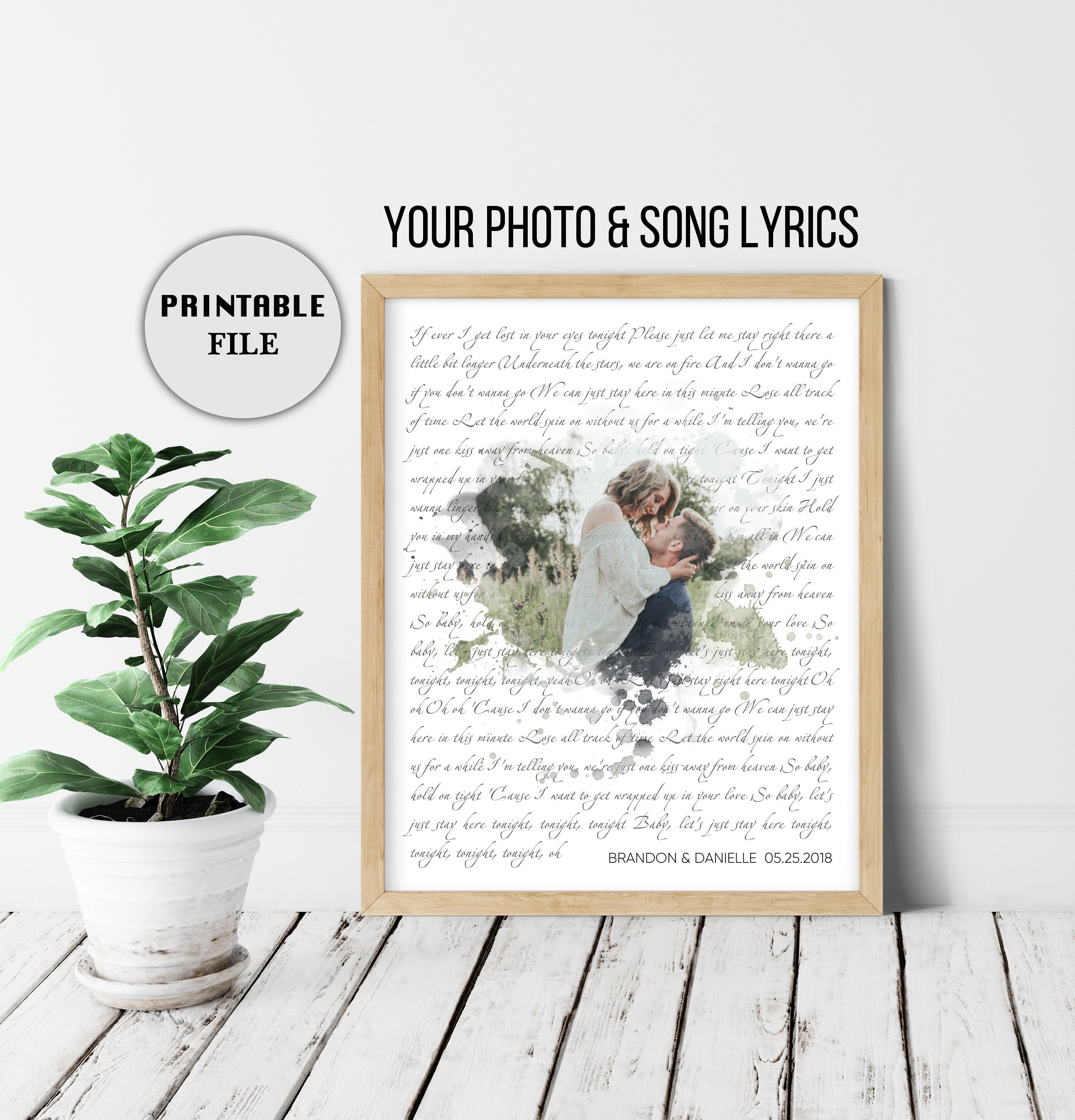 Custom Wedding Song Lyrics, 5 Year Anniversary Gifts for Men, Anniversary  Gifts for Men,Personalized Gift for Couple Lyrics DIGITAL DOWNLOAD