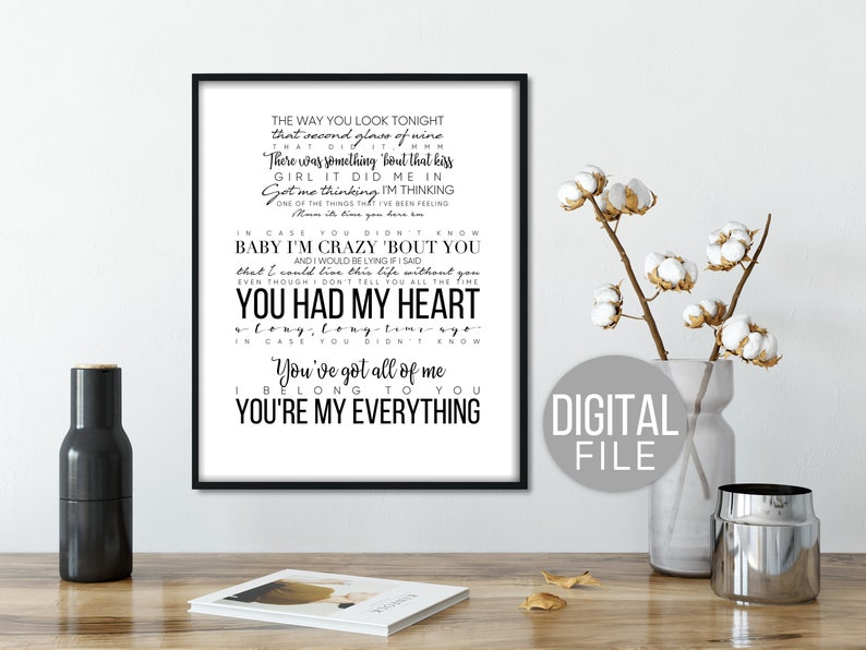 In Case You Didnt Know By Brett Young Song Quotes First Etsy