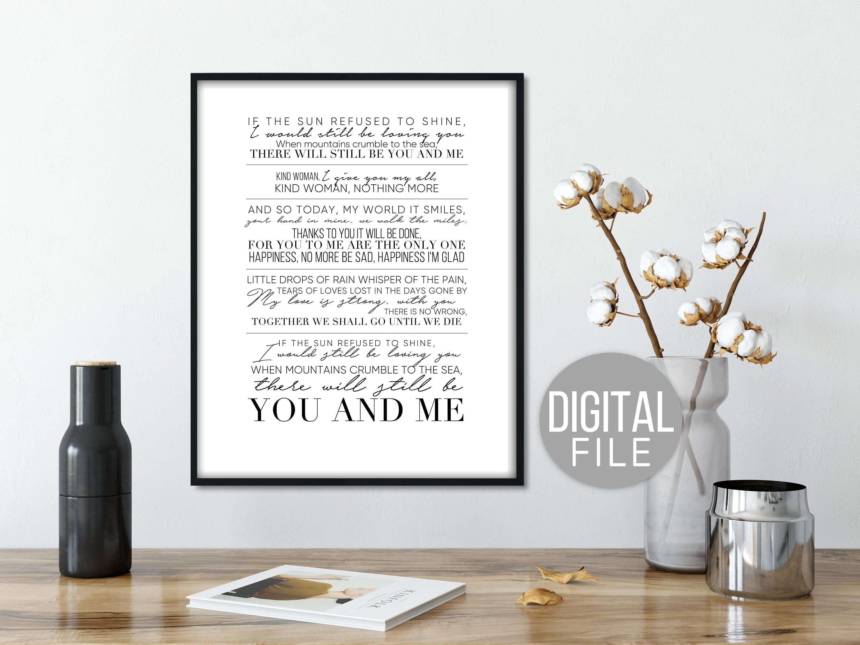 Led Zeppelin Thank You Lyrics Song Quotes Song Lyrics Led Etsy