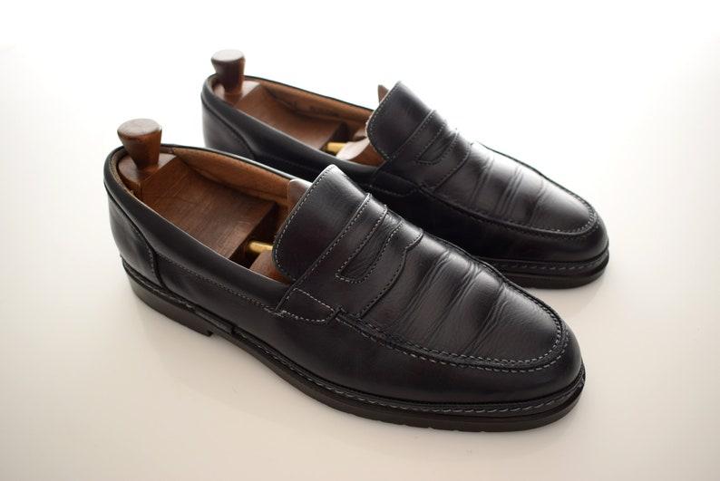 vintage Bally Penny Loafers mens size UK 9 EUR 43 Man Shoes Men Elegant  Blue Italy Shoes