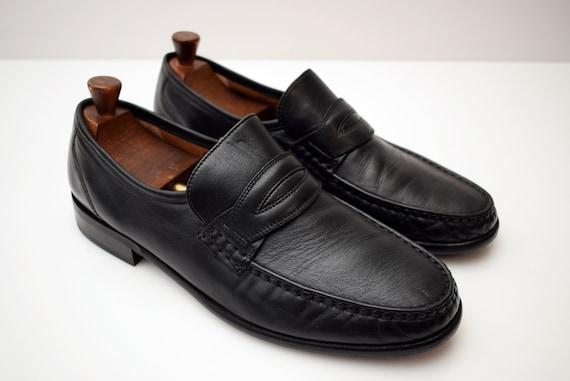 Salamander Penny Loafers mens size UK 11 EUR 46 Man Shoes Men Elegant Black Shoes