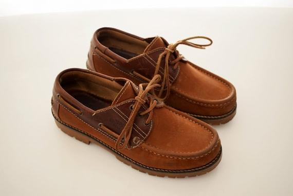 huge discount bd9cd 1d202 vintage Camel Boots Leather man size EUR 40,5 UK 7 Derby Yachting Boat Mens  Shoe Womens Men Unisex Shoes