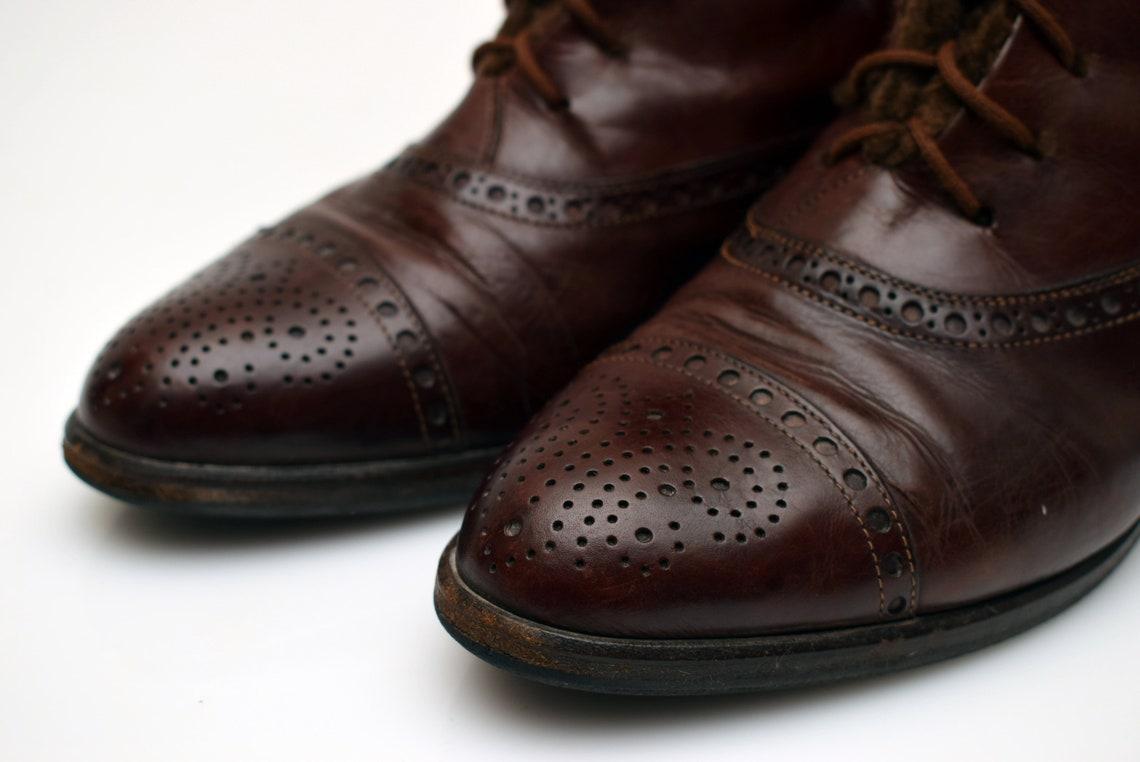 Vintage Lorenzo Banfi Leather Ankle Boots Womens Size Uk 6 Eur - Big Sale OvNoe