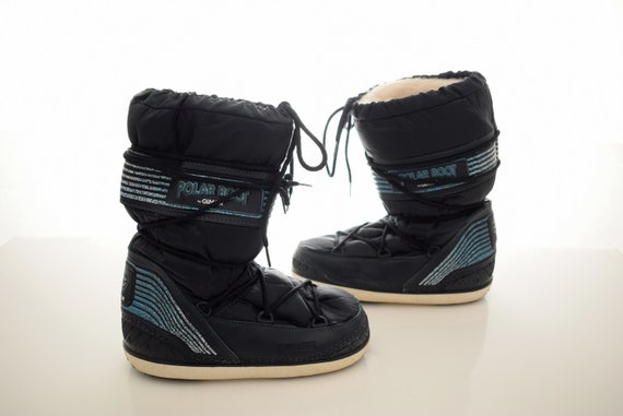 the best attitude 26e91 3fd82 vintage winter Moon Boots womens size UK 5-7 EUR 38-40 Boots Snow Black  Polar Boot by Gimor Italian