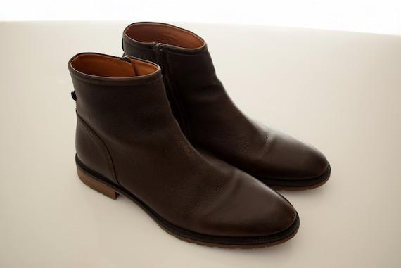 Zara Zipped Chukka Leather Ankle Boots Mens Size Uk 9 Eur 43 Etsy