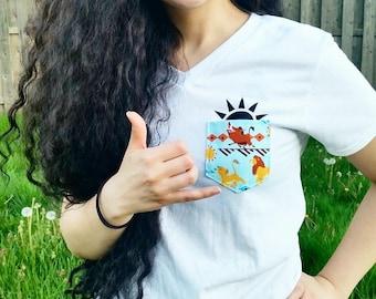 Hakuna Matata Shirt/Disney Shirt/Animal Kingdom Shirt/Lion King/Disney World Shirt/Disney Pocket Tee/Epcot Shirt/Disneyland Shirt