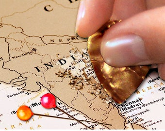Push pin travel map etsy push pin travel map world travels map map art world map push pins travel map push pin map 346 x 252 gold scratch off gumiabroncs Image collections