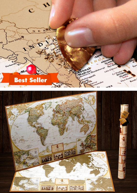 Scratch Off World Map Poster.Scratch Off World Map World Map Scratch Off Map Travel Map Etsy
