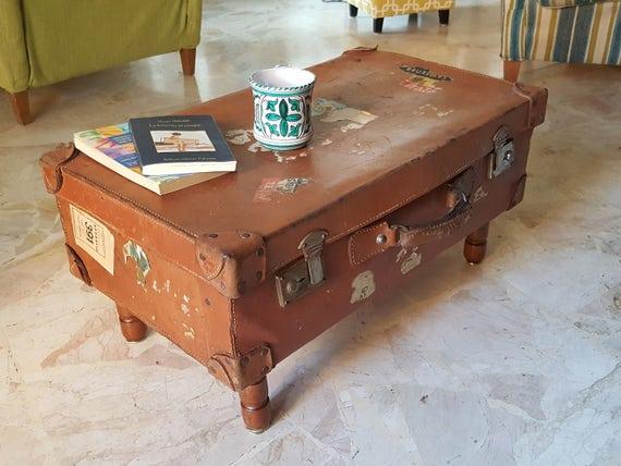 Original Vintage Koffer Couchtisch Upcycling Couchtisch Etsy