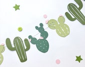Cactus Garland Fiesta Baby Shower Decorations Fiesta Birthday Party Banner Cactus Wedding Decor Cactus Bachelorette Home Office Wall Decor