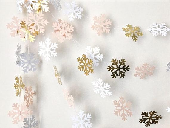 Snowflake Garland Winter Onederland 1st Birthday Decorations Winter Wonderland Baby Shower Backdrop Wedding Bridal Shower Winter Garland