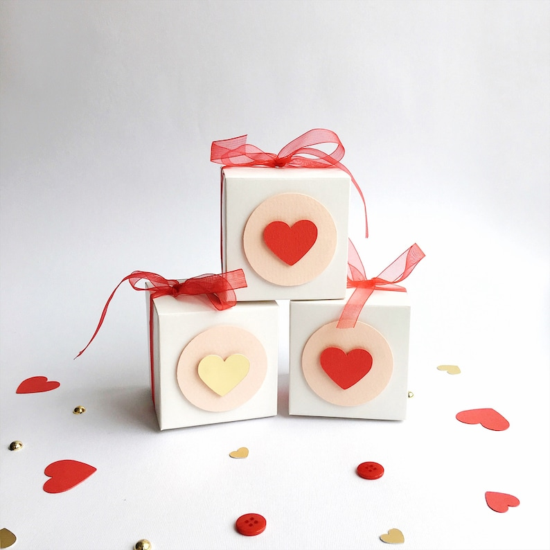 Valentine S Day Favor Boxes Red Gold Girl 1st Birthday Decorations Baby Shower Thank You Gift Box Our Little Sweetheart Birthday Set Of 12