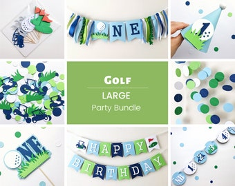 Golf 1st Birthday Party Bundle Hole In One Decorations