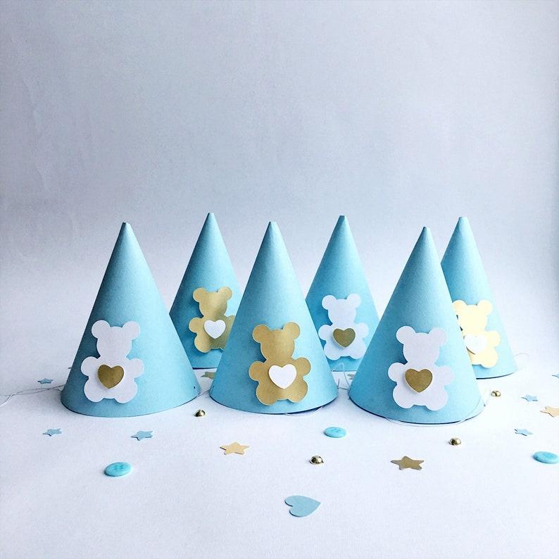 Teddy Bear Party Hats Baby Boy 1st Birthday Hat