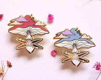 Healing Mushroom Enamel Pin Set - Hard Enamel, Lapel Pin, Witchy