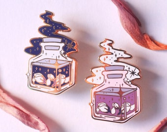 Galaxy Tea Jar Enamel Pin - Lapel Pin Witchy Tea Party Pin Witch jewelery Alice in Wonderland