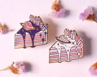 A Piece of Galaxy Enamel Pin - Lapel Pin Pastel Tea Party Pin Alice in Wonderland