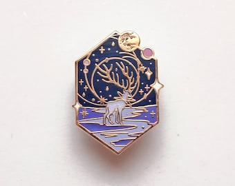 Mythical animal Deer Navy (Constellation) Enamel Pin - Deer, Lapel pin, Hard Enamel