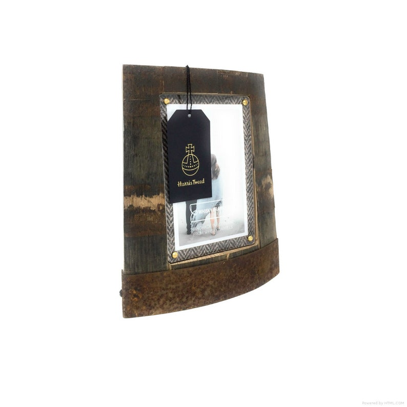 Whisky Barrel Photo Frames Ring Chime Handmade,Scottish, Unique with Harris  Tweed