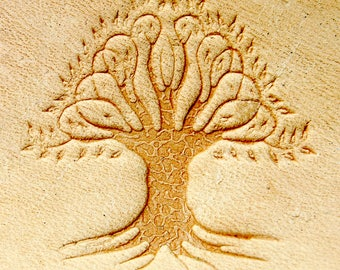"""Delrin Leather Tree stamp 3x3cm (1,18""""x1,18"""")"""