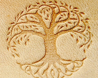 """Delrin Leather Tree of life 3x3cm (1,18""""x1,18"""")"""