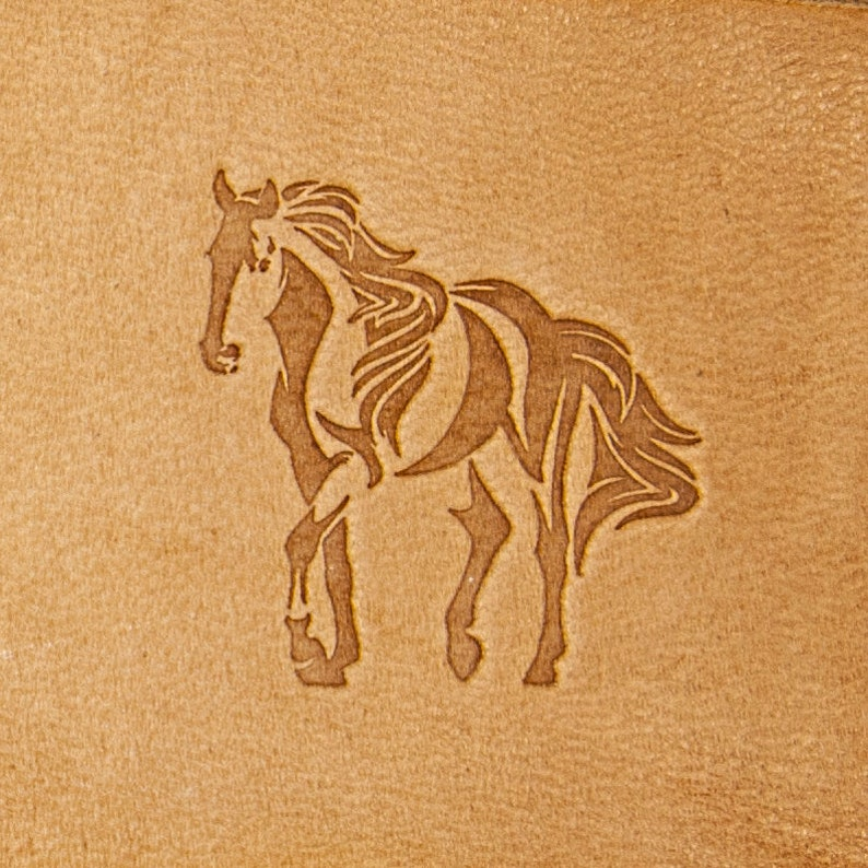 Delrin Leather Stamp Horse #2