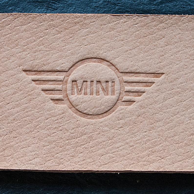 MINI car logo Delrin Leather Stamp