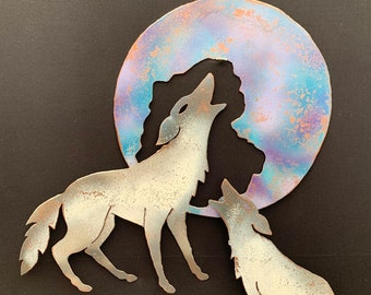 Coyotes and Moon [MA-003]