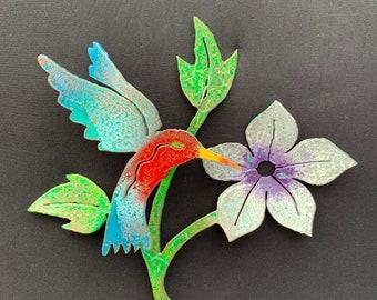 Hummingbird at Flower [MA-047]