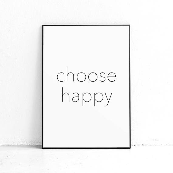 Printable Quote On Happiness Radical Self Love Short Happy Etsy