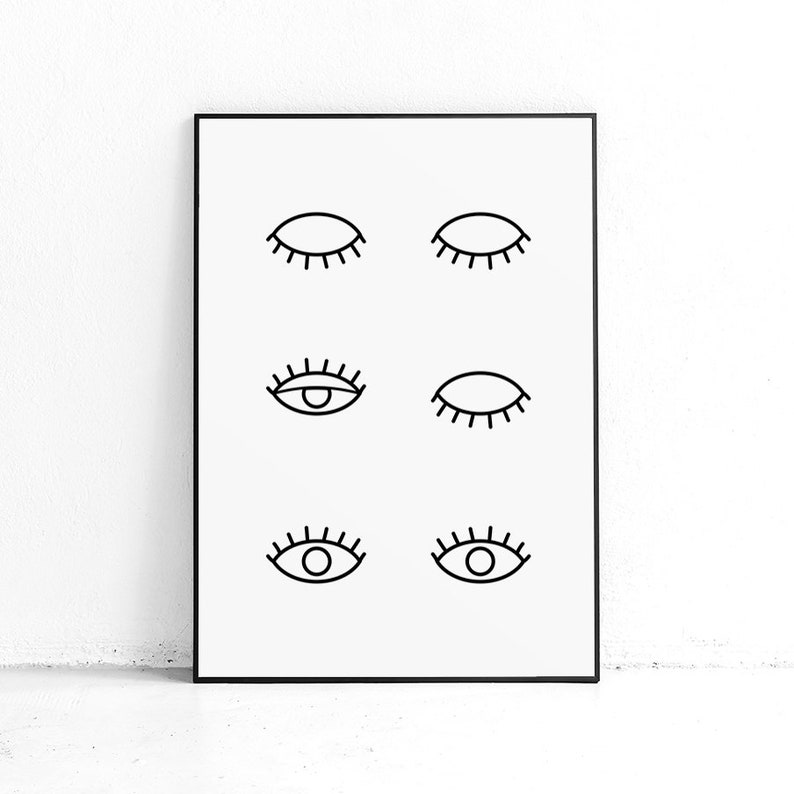 Illustration Eyes A4-A1 Poster Olle Eksell Print