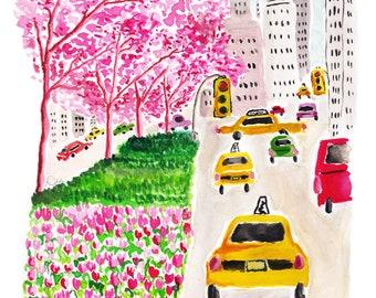 Park Ave, Please!  - Fashion Illustration Art Print