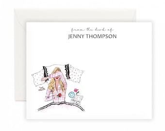 Custom Fashion Notecards - Stay Cozy, Stationery Set, Notecards, personalised notecards
