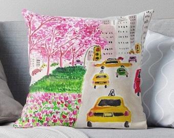 Park Ave, Please! - fashion illustration pillow, pillow cover, pillow case, fashion cushion, cushion, fashion pillow, decorative cushion
