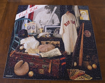 Springbok Puzzle- Babe Ruth Jigsaw Puzzle- 1987 Vintage Jigsaw Puzzle- Baseball Puzzle-Complete 500 Piece Puzzle